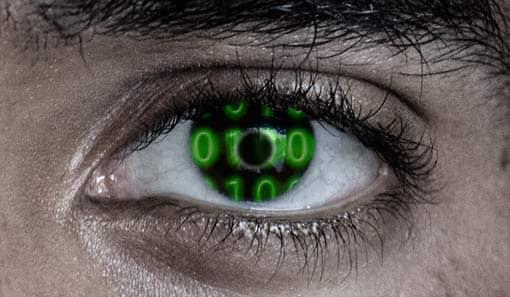 Technik-Kontaktlinse imAuge