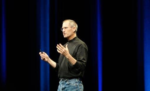 Steve Jobs bei Präsentation