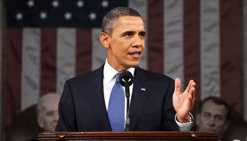 Barack Obama bei einer Rede