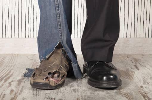 Arm und reich - gute/schlechte Schuhe
