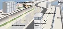 Grafik: Aufbau der Berliner Mauer (kleiner Ausschnitt)