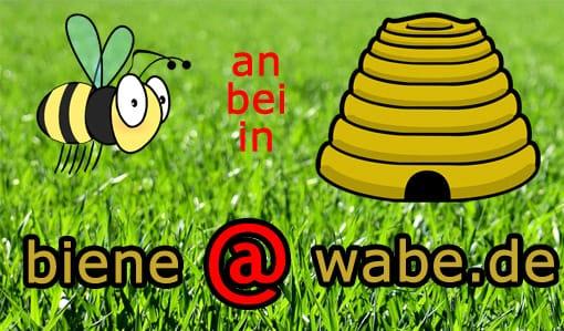 Biene 'at' Wabe - Präposition mit dem at-Zeichen