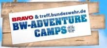 Logo: Bravo + treff.bundeswehr.de: BW-Adventure-Camps
