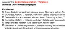 deutschklausuren: checklisten für einzelne aufgabentypen • lehrerfreund