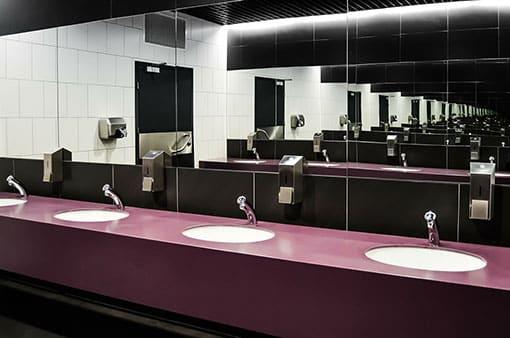 Gepflegte WC-Räume