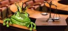 Froschkönig im Gerichtssaal