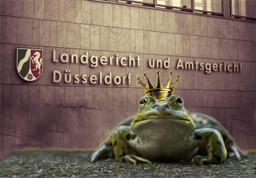 Froschkönig vor Gerichtssaal