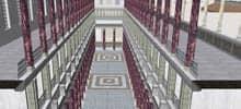 Google Earth, altes Rom in 3D - Ausschnitt einer Innenansicht