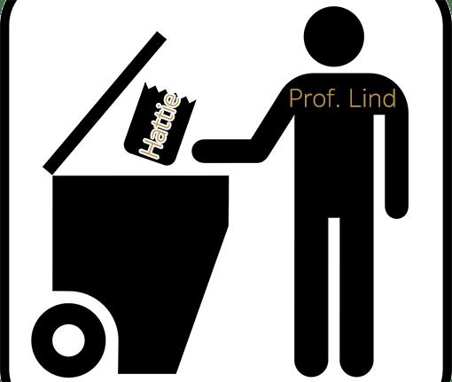 Prof. Lind wirft die Hattie-Studie in eine Mülltonne