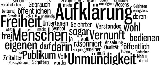 Wordle-Wortwolke zu Kant: Was ist Aufklärung (Ausschnitt)