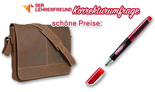 Logo zur Lehrerfreund-Korrektur-Umfrage 2015 (ohne Sponsor)