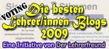 Lehrerblog 2009 - Logo mit Stimmzettel