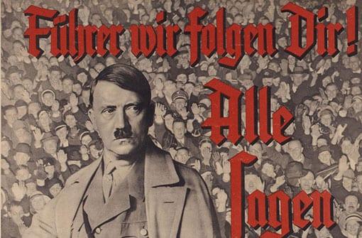 Nationalsozialistisches Propagandaplakat: Führer wir folgen dir (Ausschnitt)