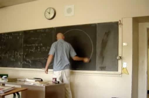 Ausschnitt aus dem Unterrichtsvideo mit dem perfekten Kreis