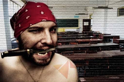 Pirat kommuniziert nicht gut in Klassenzimmer