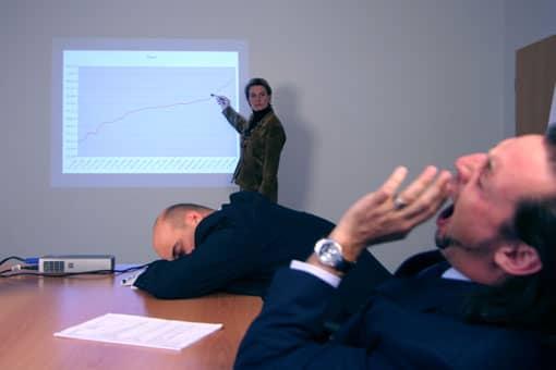 Präsentation, Zuhörer schlafen