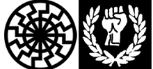 Rechtsradikale Symbole: White Power und Schwarze Sonne