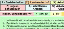 Screenshot: Online-Tool für schriftliche Zeugnisbeurteilungen