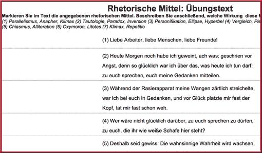 Stilmittel - Übungen für den Deutschunterricht • Lehrerfreund