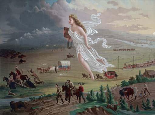 Gemälde zeigt das »manifest destiny«