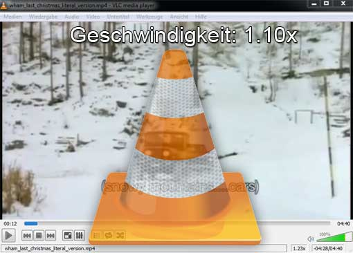 VLC-Player mit Logo
