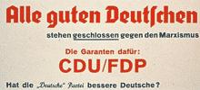 Wahlplakat: der CDU Alle gute Deutschen ... (1949)