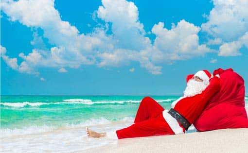 Entspannter Weihnachtsmann