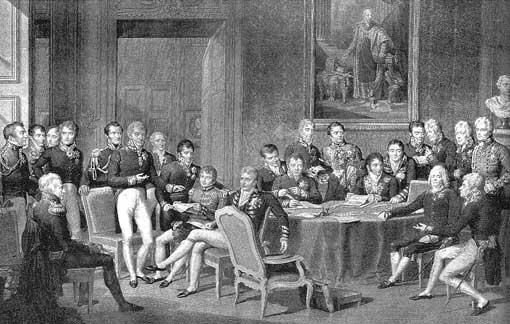 Wiener Kongress - Kupferstich 1819 (Isabey/Godefroy)