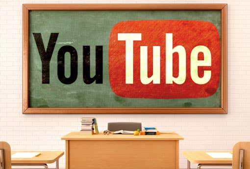 YouTube-Logo in Klassenzimmer