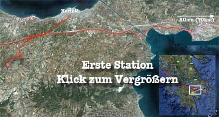 Vorschau: Karte der Ersten Station, Walter zusammen mit Sabeth - Google Earth (KLick zum Vergrößern)