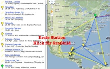 Vorschau: Karte der Ersten Station vor dem Treffen mit Sabeth - Google Maps (KLick zum Vergrößern)