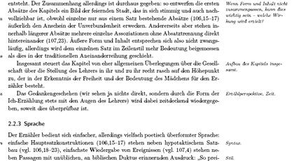 Screenshot: Ausschnitt aus dem Musteraufsatz von Hanjo Iwanowitsch zum Kapitel 'Fahnen' aus Horvaths 'Jugend ohne Gott'
