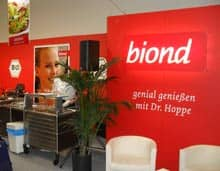 Stand 'biond - genial genießen mit Dr. Hoppe'