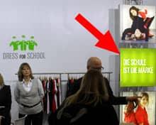 Schulkleidungstand, Claim 'Die Schule ist die Marke'