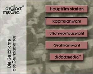Hauptmenü der didactmedia-DVDs Politik