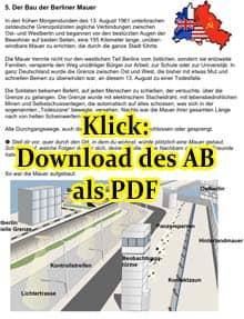Vorschaubild: Arbeitsblatt zum Bau der Berliner Mauer; Klick zum Download als PDF