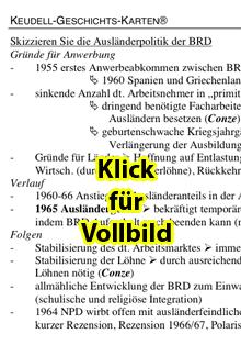 Keudell-Karte 'Ausländerpolitik der BRD ab 1950', Vorschaubild