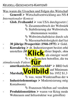 Keudell-Karte 'Wirtschaftswunder 1', Vorschaubild
