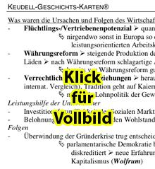 Keudell-Karte 'Wirtschaftswunder 2', Vorschaubild