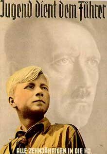 Plakat der Hitlerjugend 'Jugend dient dem Führer' (Vorschaubild 220px)
