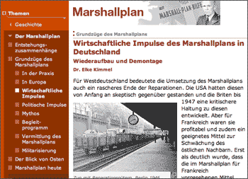 Screenshot: Marshall-Plan bei bpb.de