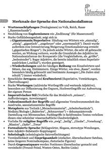 Vorschau: Arbeitsblatt 'Merkmale nationalsozialistischen Sprachgebrauchs'