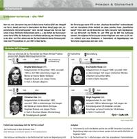 Arbeitsblatt RAF/Linksterrorismus: Ausschnitt