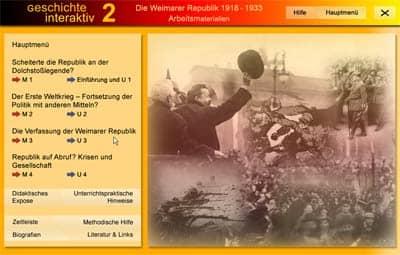 Screenshot: Zusatzmaterial der DVD 'Weimarer Republik'