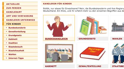 Bundeskanzlerin.de - Politik fuer Kinder