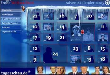 Vorschau Adventskalender tagesschau 2005