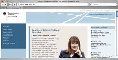 Website des Bundesministeriums für Bildung und Forschung, Thumbnail