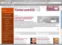 Vorschau: Themenportal zum EU-Beitritt der Türkei