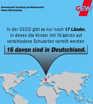 GEW-Werbung, AUsschnitt: Hauptschule abschaffen