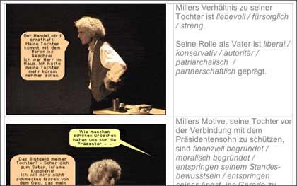 Vorschau: Arbeitsblatt zum Verhältnis Miller und seine tochter